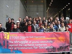 La rencontre des JC des pays d'Europe en mars 2010 met en avant la lutte pour le socialisme.
