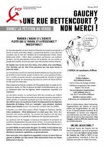UNE RUE LILIANE BETTENCOURT A GAUCHY DANS L'AISNE ? NON MERCI